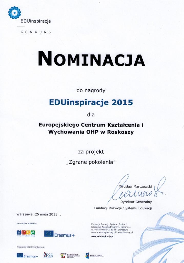 nominacja EDUinspiracje